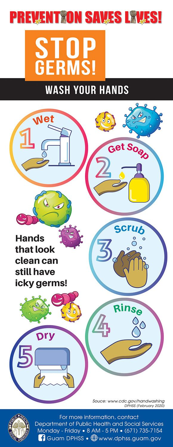 Stop germs and wash your hands guide