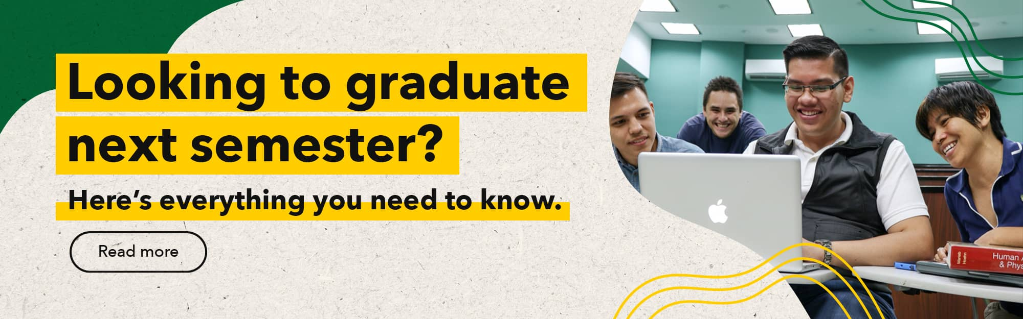Looking to graduate next semester? Here's everything you need to know.