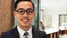 Kim attributes hard work and an education at the University of Guam to his success in reaching his professional goals.