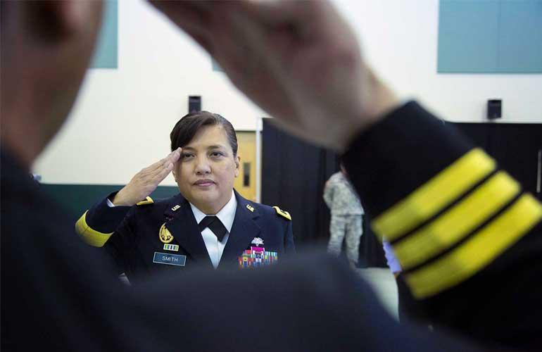 Smith's study of management paired with her experiences in the Triton Warrior Battalion helped her achieve great success in her military career